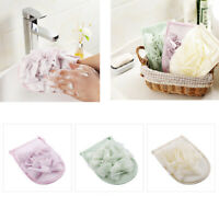 3 Pcs Bath Mitt Exfoliating Body Shower Glove Sponge Scrubber w/Suds Pouf