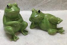 Adorable Vintage Frog Porcelain Salt & Pepper Shakers