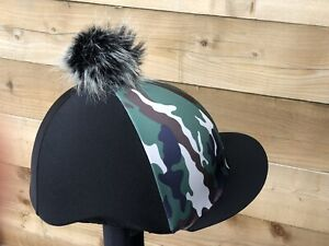 Camouflage Hat Horse riding hat Cover silk Skull Cover 🇬🇧