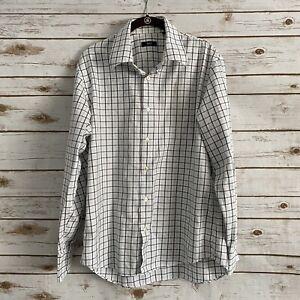 Boss Hugo Boss Men's Multicolor Plaid Long Sleeve Button Down Shirt 16 1/2 34/35