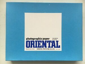 Oriental Panchro photographic paper 100 sheets 18 x 24 cm sealed & unopened