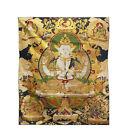 Chinese Tibetan 4 Arms Tara , Kwan Yin .Bodhisattva Loom Tapestry Artcs901 SF2