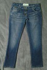 Ladies VOI blue jeans W31 L30 skinny slim leg mid rise designer distressed 10 12