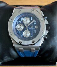 MEN'S DIDUN DESIGN WATCH - BLUE & SILVER - 42mm