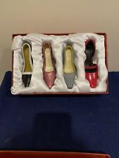 4 High Heeled Shoe Christmas Ornaments In Box