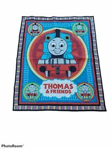 A Thomas The Tank Engine Train Crib Comforter quilted Homemade 46x37