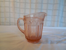 Hocking depression glass pink colonial knife & fork small pitcher 16 oz