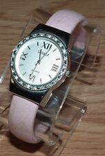 Bijoux Terner (K-16346) Silver Tone Analog Women's Bangle Wrist Watch *READ*
