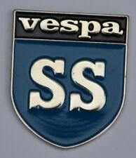 Vespa SS Scooter Shield Quality Enamel Pin Badge