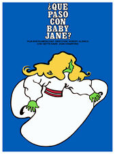 Que paso con baby jane? blue Film POSTER.Graphic Design.Wall Art Decoration.3039