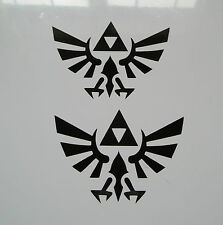 2 X ZELDA Decalcomanie-Vinile Adesivi TRIFORCE AUTO SKATE SNOWBOARD PC COMPUTER PS4