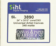 "SIHL–LOT OF 4 ($25/roll) Universal Matte Inkjet Canvas 24""x35' Rolls 340gsm"