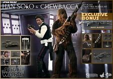Star Wars Hot Toys Han Solo Chewbacca MMS 263 Set Exclusive Sideshow A New Hope