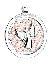 Colgante Ángel De Paz Ángel de la guarda con flor de la vida angelsvoice PLATA