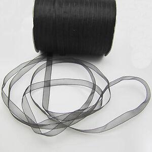 """Wholesale!  50 Yards 3/8"""" 10mm Satin Edge Sheer Organza Ribbon Bow Craft DIY"""