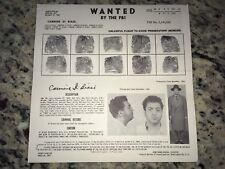 "1955 COLOMBO MAFIA FAMILY CARMINE ""SONNY PINTO"" DIBIASE FBI WANTED POSTER *OFFER"