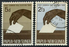 Papua New Guinea 1964 SG#55-6 Common Roll Elections Used Set #D23742