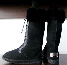 Australia Luxe Montana Tall botas señora botas Black zapatos de piel talla 37 nuevo