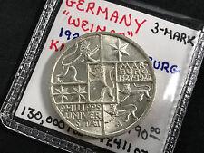 1927-A GERMANY WEIMAR REPUBLIC 3 MARK KM#53