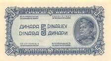 Yugoslavia  5  Dinara  1944  P 49b  WWII  Issue  Uncirculated Banknote Me16