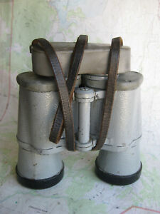 WWII 7x50 Zeiss Nedinsco Danish Naval binoculars w/ armor, reticle, drying ports