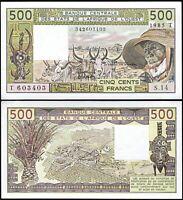 West African States (T) TOGO 500 Francs, 1985, AUNC / UNC, P-806Th
