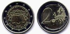 """Moneta fior di conio da 2 Euro """"Trattato di Roma 2007"""" Emissione:FINLANDIA"""