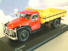 EXCELLENT WHITEBOX DIECAST 1/43 1949 CHEVROLET 6400 TRUCK RED/BLACK/YELLOW WB193