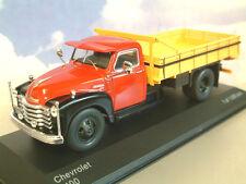 Excelente Whitebox Diecast 1/43 1949 Chevrolet 6400 Camión Rojo/Negro/Amarillo WB193