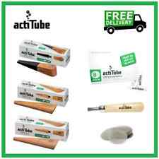 More details for actitube briar root, olive, pear pipe + charcoal filters + brusch + 10 screens