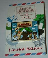 Disney Donald Chip & Dale AP Passholder Animal Kingdom Postcard Pin 111839