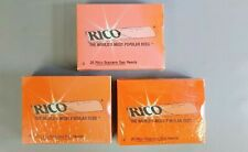 Lot of 3 Packs of Rico #4 Soprano Saxophone Reeds 25 in each Pack