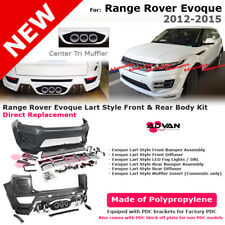 Range Rover Evoque 12-15 Lart Sty Front Rear Bumper Center Tri Muffler Body Kit