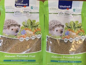 *2 Bags* Vitakraft Hedgehog Food Natural Pelleted Diet *Over 3lb!* Ex 12/22