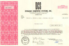 Dynamic Computer Systems, Inc.  > 1971 Texas stock certificate