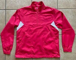 NIKE GOLF Women's Wind Rain Top Shirt-Flame-Half-Zip-Clima-FIT--Medium-NWOT
