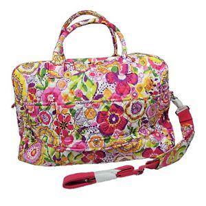 Vera Bradley Duffel Bag Weekender Tote Clementine Pink Floral Large Traveler