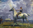 FRAMED CANVAS ART PRINT Sir Alfred James Munnings NED OSBORNE ON GREY TICK