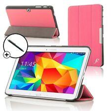 De Cuero Rosa Inteligente Plegable Funda Protectora Para Samsung Galaxy Tab Pro 10.1 + stylus