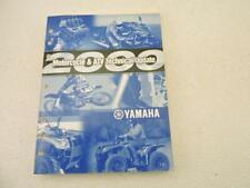 2000 Yamaha Motorcycle & Atv Technical Update Manual Book B6670
