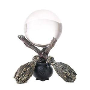 Besom & Cauldron Witchcraft Gazing Ball!