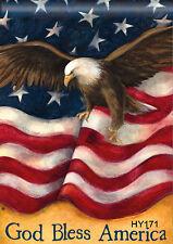 "American Garden Flag 12.5X18"" Soaring Eagle Mini Usa House Flags Banner Hy171"