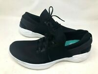 NEW! Skechers Women's You Inspire Walk Pull On Shoes Black/Wht #14950 h22b a
