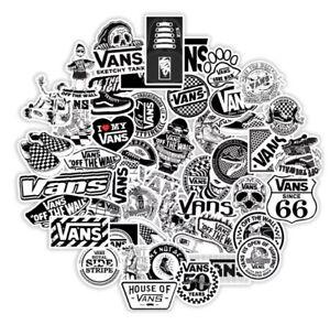 Vans Black And White Skateboarding Skate Stickers 10 Pack. - Vinyl Skate - NEW!