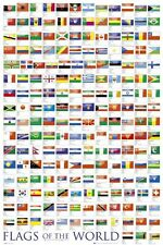 Flags of the World - Educational Chart Poster