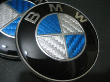 BMW 82MM Roundel Replacement EMBLEM Blue CF for Hood OR Trunk P/N 51148132375