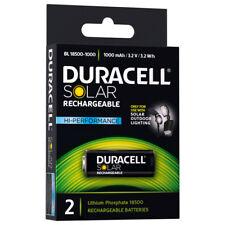 Duracell 1000mah Hi Performance Solar Outdoor Rechargeable Batteries X2