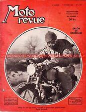 MOTO REVUE 1122 DOUGLAS PEUGEOT GNOME RHONE R4 BSA B31 MONNERET BRUXELLES 1953
