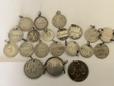 Love Tokens Huge Lot Applied Gold Names Initials Silver