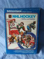 Vintage 1979 Mattel Intellivision NHL Hockey Video Game Cartridge in Box